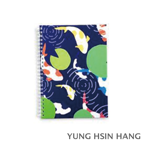 77-16WN Oriental Style Large Wire-O Notebook