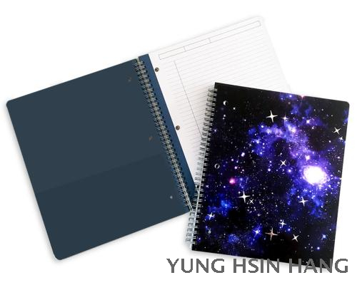 78-08WN Galaxy Large Wire-O Bound Notebook